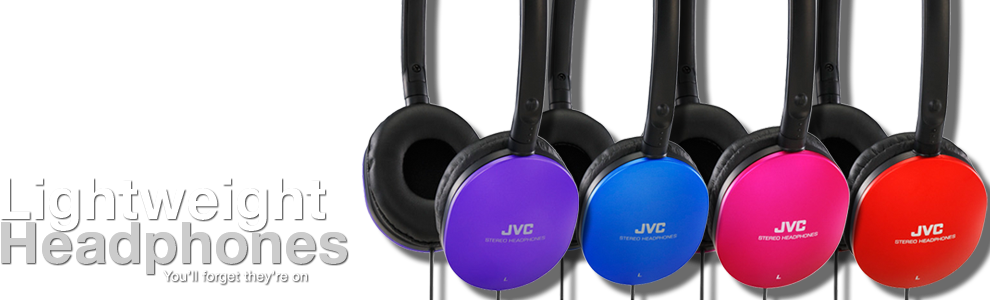 JVC Light Weight Headphones